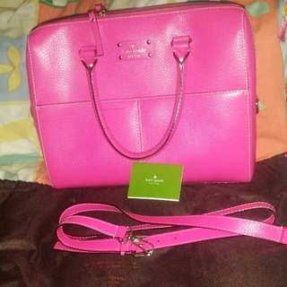 Kate&spade (90% bag used size L) and wallet (new) (Take all ) with dustbag card box
