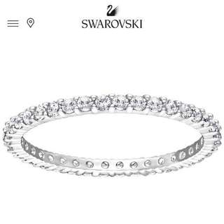 Swarovski Ring戒指 線戒 Size55
