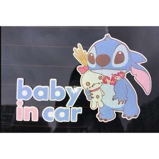🚚 【現貨】史迪仔車用貼紙-牆贴、汽車貼紙-可愛卡通-車用精品-星際寶貝、反光貼-汽車貼紙