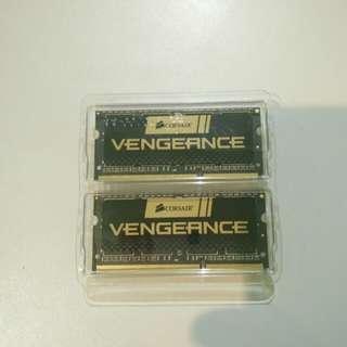 Memory RAM Corsair Vengeance DDR3 PC3 1,5v Baru