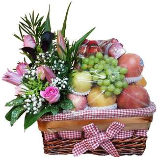 Speedy Recovery Basket (Floral Fruits Basket W Brand's Bird Nest)