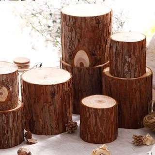 Wedding - Wooden Log Deco (3pcs) Sell/Rent