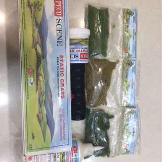 PECO PSG-1 Static Grass Micro Applicator, Basing Glue, 3 bags of Grass