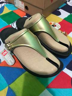 Fitflop Superjelly Gold mirror