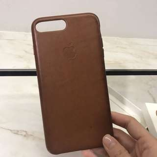 iPhone 7 Plus Leather Case (Saddle Brown)