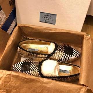 全新 Prada 編織女鞋