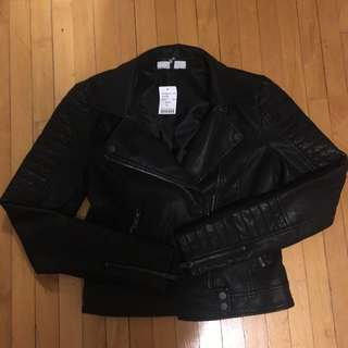 M Boutique Leather Moto Jacket