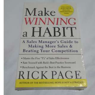 [Brand New & Sealed!] Make Winning a Habit [Self Development Book]