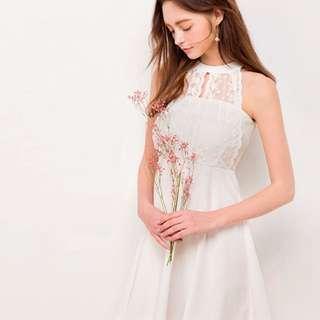 Air space 白色蕾絲洋裝