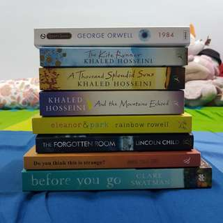 [pre-loved] assorted fiction / young adult books and novels
