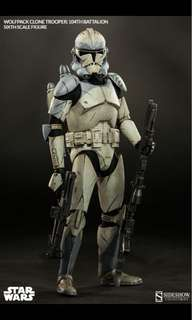 Wolfpack Clone Trooper 104th Battalion Sixth Scale Star Wars Sideshow Figure