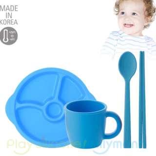 韓國sillymann 鉑金矽膠防滑幼兒學習餐盤組