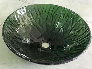 玻璃洗手盆 (全新)