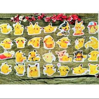 [Instock] Stickers Scrapebook/ Planner Stickers #80 (Pikachu)