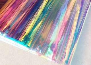 """Iridescent PVC """"Fabric"""" ($11 per meter)"""