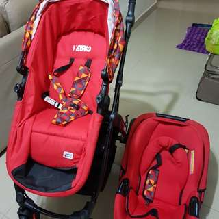Stroller and baby car seat