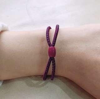 #5 2IN1 Shiny Dark Purple Hair Tie