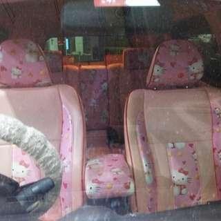 Honda Stream Seat Set ( Hello Kitty )