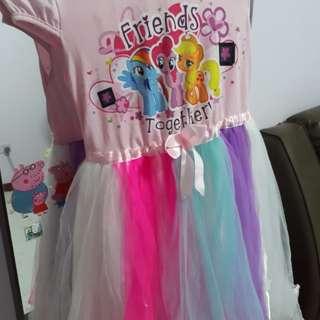 Little pony rainbow dress