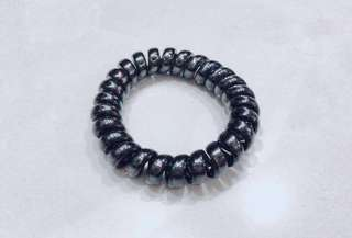 #12 Black Telephone Cord/Coil Hair Tie