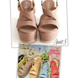 🚚 Ann'S復古厚底楔型涼鞋
