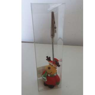 Cute Reindeer Photo/Card/Paper/Memo Clip Holder