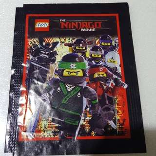 Lego The Ninjago Movie pack of 5 stickers Brand New