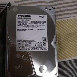 Toshiba Harddisk 2tb