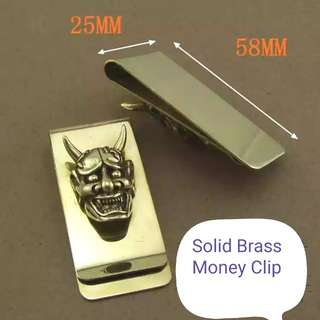 Solid Brass Money Clip Free Shipping