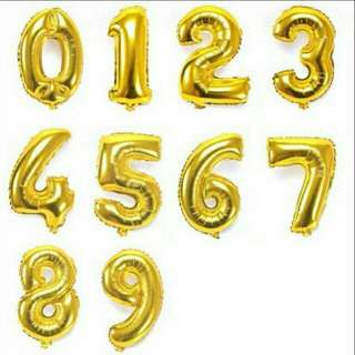 """Foil numbers balloon 16"""""""