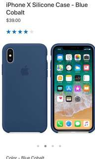 iPhone X Silicone Case - Blue Cobalt - Apple