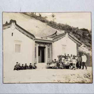Vintage Old Photo - very old large black & white photograph showing A Chinese building (29 by 23cm)