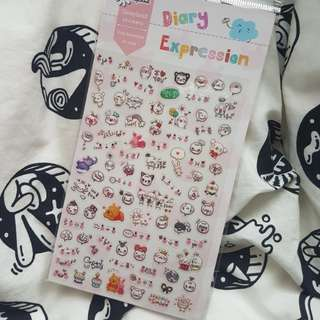 Diary expression sticker