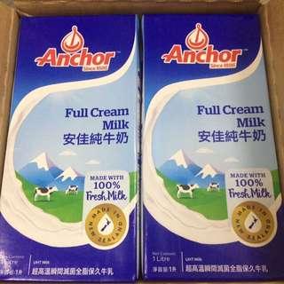 安佳純牛奶 12*1L