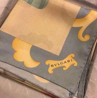專櫃正品全新 bvlgari 方巾 披肩