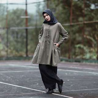 argy tops olive by maima indonesia REPRICE