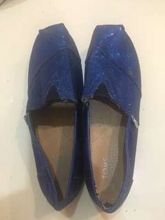 Blue shiny TOMS