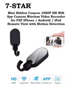 Wireless Hidden Spy Wifi Battery Hook Camera (Full-HD 1080P Resolution with Audio) Loop Recording IP Camera