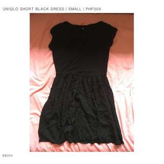 EB004 - Uniqlo Short Black Dress