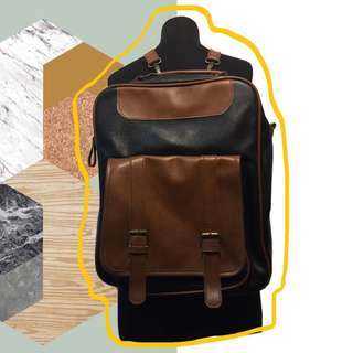 Leatherette Backpack