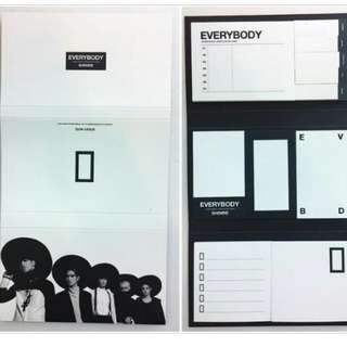 SHINee Everybody Sticky Note 官方
