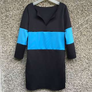 Color Block Dress with side pockets
