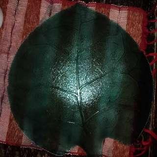 Tempat buah bahan kaca warna hijau