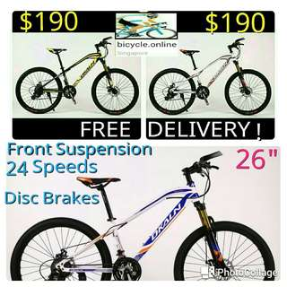"""Free delivery! Dkaln 26"""" 24 Speeds MTB / Mountain Bikes ✩ Brand new bicycles *LT"""
