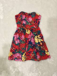 F21 H81 TROPICAL DRESS - SIZE S- FIXED!
