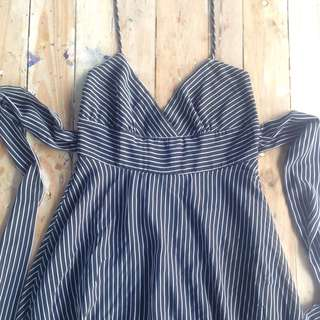 Vintage Pinstripe Forever 21 Dress