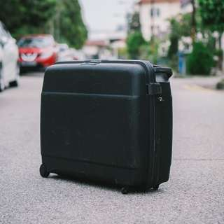 Vintage Luggage / Suitcase (Echolac Brand) Great as Cafe Decor, Prop