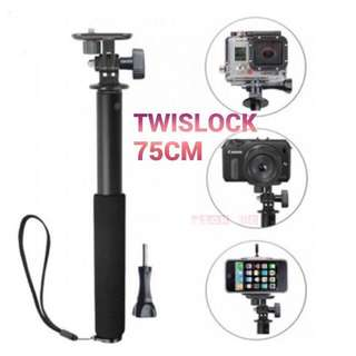 Twislock Pole 75cm Monopod For Action Camera/ Phone/ DSLR