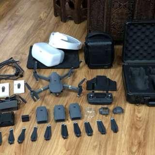 DJI Mavic Pro Flymore Combo + DJI Googles, Propellers, Hard Carrying Case, DJI Bag,