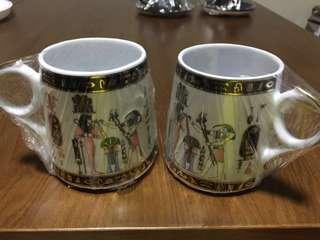 埃及 茶杯 咖啡杯 一對